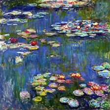 Water Lilies I A2+ by Claude Monet Canvas Print