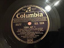 "GIAMPIERO MALASPINA (Baritone) ""TOSCA"" (cond. Michael Mudie) 78rpm 12"" DX1514 NM"