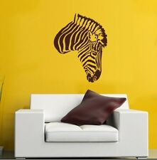 ZEBRA HEAD Animal Wall / Car Decal Sticker, Highest Quality