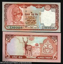 NEPAL 20 RUPEES P47 2002 *BUNDLE* KING H.M.GOVT TEXT UNC DEER CURRENCY 100 PCS