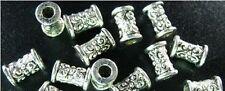 200 PCS Tibetan Silver ornate barrel spacer beads FC292
