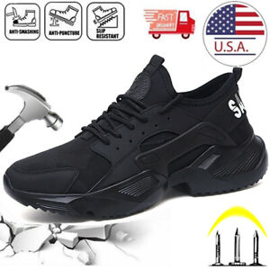 US Women's Sneakers Safety Shoes Work Steel Toe Cap Boots Indestructible Size 11