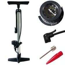 Melko® 12 BAR Stahl Standpumpe Radsport Luftpumpe Standluftpumpe Handpumpe 180 ✅