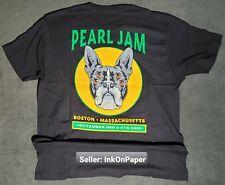 2018 Pearl Jam Boston Terrier Shirt Large Original Not Poster