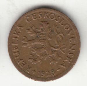 CZECHOSLOVAKIA 10 HALER 1928 COPPER       68K    BY COINMOUNTAIN