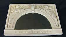 Library of Congress Decorative Wall Mirror Roman Style Liber Delication Animae