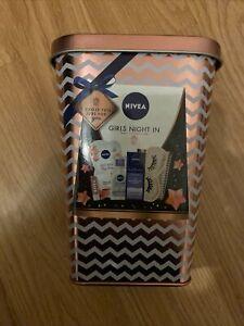 Nivea Girls Night In Rose Gold Tin 5 Piece Face Pampering Gift Set Spa Night