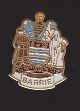 Barrie Ontario Metal Pin Pinback - Very Good