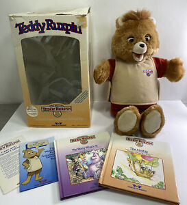 Vintage Teddy Ruxpin in Original Box with Book and Tape Very Clean Great