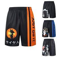 Dragon Ball Z Shorts Goku DBZ Men Gym Sports Training Joggers Casual Anime Pants