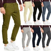 Mens Chino Trousers Slim Fit Stretch Cotton Casual Jeans Stallion Khaki Designer