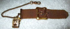 Antique Victorian Gold-Fill Mesh Watch Fob/Chain