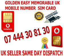 GOLDEN EASY MEMORABLE UK VIP MOBILE PHONE NUMBER 07 444 30 81 30 PLATINUM SIM