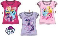 Girls Children My Little Pony Short Sleeve Tee Tshirt T-Shirt Top Age 2-8 years