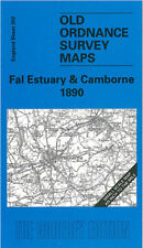 OLD ORDNANCE SURVEY MAP FAL ESTUARY CAMBORNE PENRYN REDRUTH TRURO BUDOCK 1890