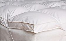 Goose Feather & Down Duck Feather & Down Mattress Topper Cover White All Sizes