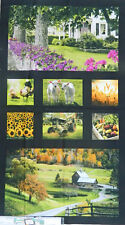 Patchwork Quilting Sewing Fabric HEARTLAND DIGITALLY PRINTED Panel 60x110cm New