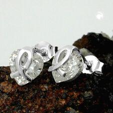 925 Sterlingsilber Ohrringe Ohrstecker 7,5x7mm Herz Zirkonia Silber
