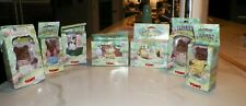 Vintage Tomy Calico Critters 7 Pc With Boxes