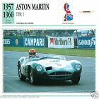 ASTON-MARTIN DBR I 1957 1960 CAR VOITURE Great Britain CARTE CARD FICHE