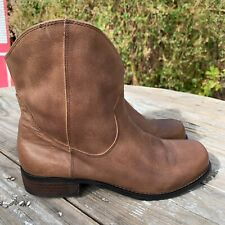 Jessica Simpson Tan Leather Cranaby Boots Size 8.5 B