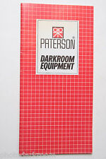 Paterson Darkroom Equipment Sales Ad Brochure Pamphlet 1984 - USED B63