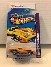 '76 Greenwood Corvette #208 * Yellow * 2013 Hot Wheels * G15