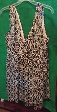 NWT  Renn Plus Size Brown Gold  Beige Sequined Dress Size 1X