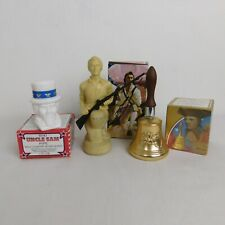 Avon Lot of 3 After Shave Decanters Uncle Sam Pipe Paul Revere Bell Minuteman