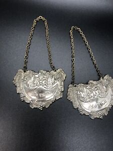 vintage decanter tags