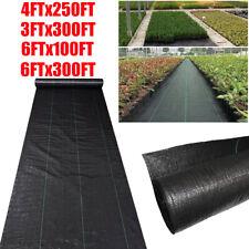 100/250/300ft Pro Garden Weed Barrier Landscape Fabric Heavy Duty Weed Block Mat