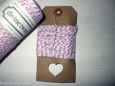 10mt 'Plum' DIVINE BAKERS TWINE   Packaging Parties Embellishment