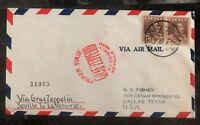 1930 Seville Spain Graf Zeppelin First Flight Cover to Lakehurst NJ USA LZ127 B