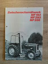 Original Traktor Massey Ferguson MF 193 293 286 Prospekt