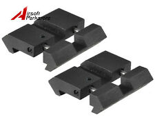 """2pcs 3/8"""" 11mm Dovetail to 7/8"""" 20mm Rail Adaptor Scope Mount Tactical Hunting"""