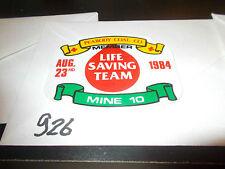 nice Aug 1984 Peabody Coal Mine 10 Life Saving Team member Coal Mining Sticker