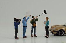 Figur Kamera Reporter Crew Racing Set 4 pcs 1:24 American Diorama no car