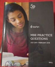 2018 Barbri Multistate Bar Exam MBE Practice Questions + FREE FLASHCARDS OUTLINE