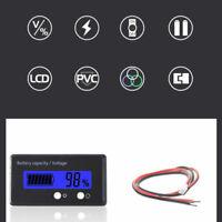 Bleu Batterie Charge LCD Numérique indicateur moniteur compteur jauge