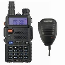 Baofeng UV-5R + MICROFONO Mic 2m/70cm FM RICETRASMITTENTE Walkie Talkie Radio