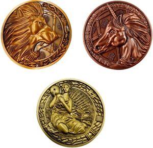 Resident Evil Medallion - Lion, Maiden & Unicorn Bundle | Licensed Boxed New