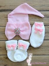 Comfy ELF Newborn Baby Infant Girl Toddler big Bow knot Hospital Beanie Hat