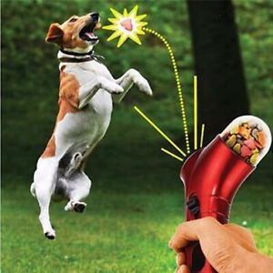 The Original Workshop Pet / Dog Treat Launcher Pet Reward Toy in Red or Blue