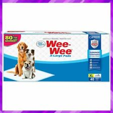 TRAINING PUPPY PADS Dog Pee Pad Extra Large 40 Count 28 x 34 Inch By FOUR PAWS