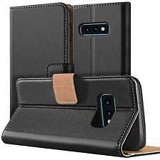 Teléfono móvil funda protectora book case flip cover Wallet estuche funda de móvil negro