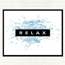 Blue White Dark Relax Inspirational Quote Dinner Table Placemat