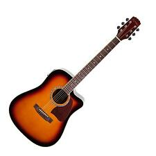 New Martinez Acoustic-Electric Dreadnought Cutaway Guitar (Tobacco Sunburst)