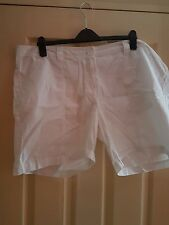 south plus size 20 white cotton shorts bnwt