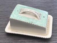 Art Deco Burleigh Ware Butter / Cheese Dish 5786 Burgess & Leigh