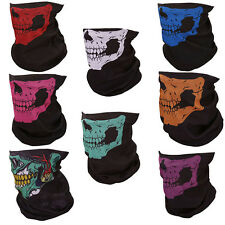 8x Motorcycle Seamless Skull Face Tube Mask Outdoor Hiking Cycling Ski Bike